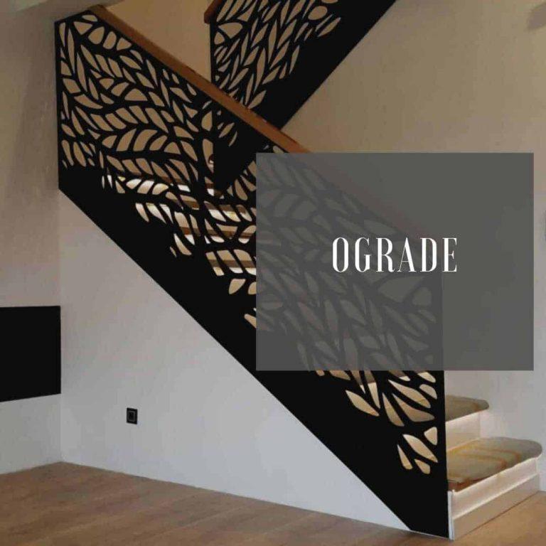 Ograde za dvorište, terasu, stepenice Metal Inox